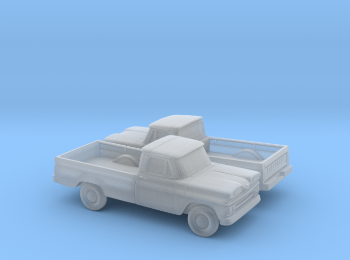 1/160 2X 1960-61 Chevrolet C-10 Fleetside 3d printed