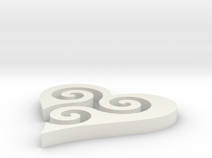 Trisk Heart 3d printed