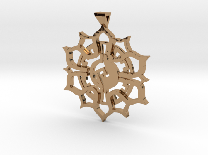 Maya Lotus Pendant 3d printed