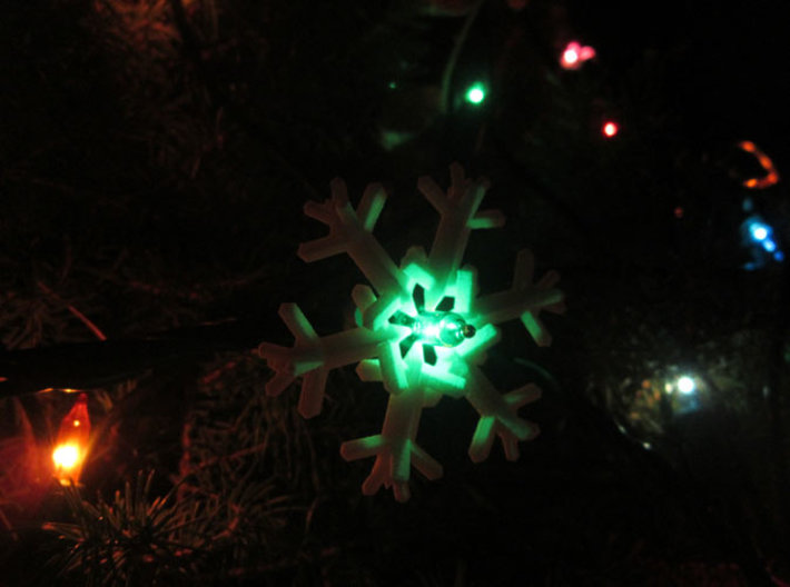 Snow Flake 6 Points D - 5cm 3d printed