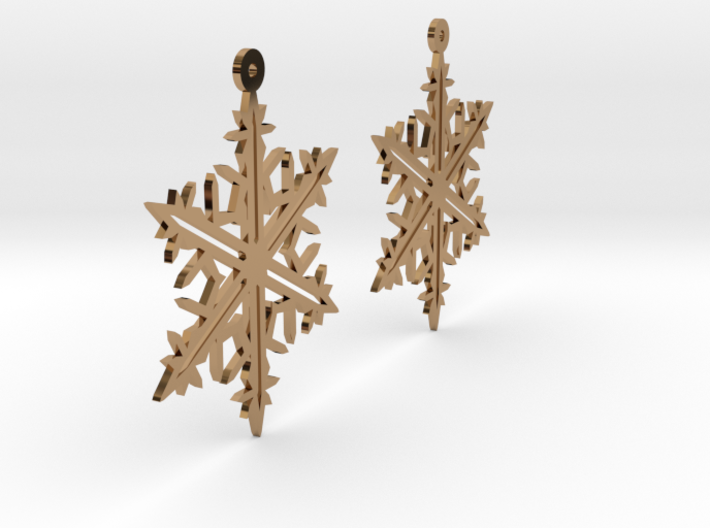 Snowflake Earring Model B 3d printed