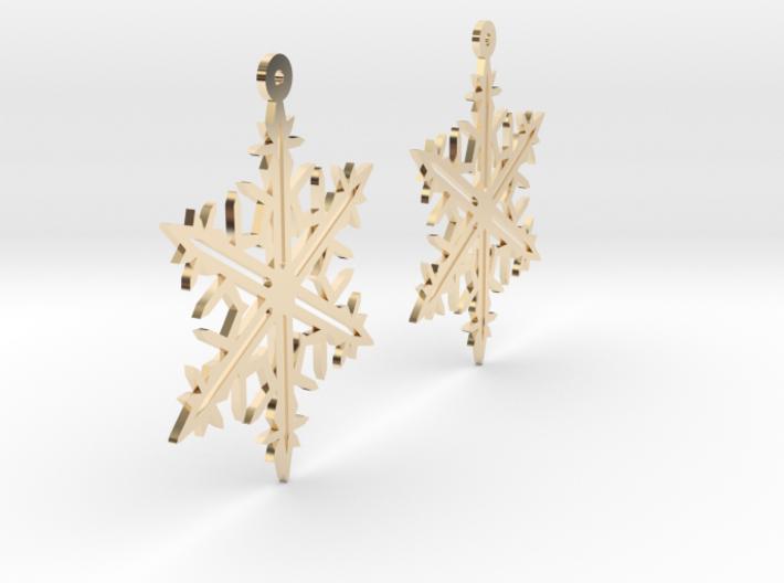 Snowflake Earring Model B 3d printed