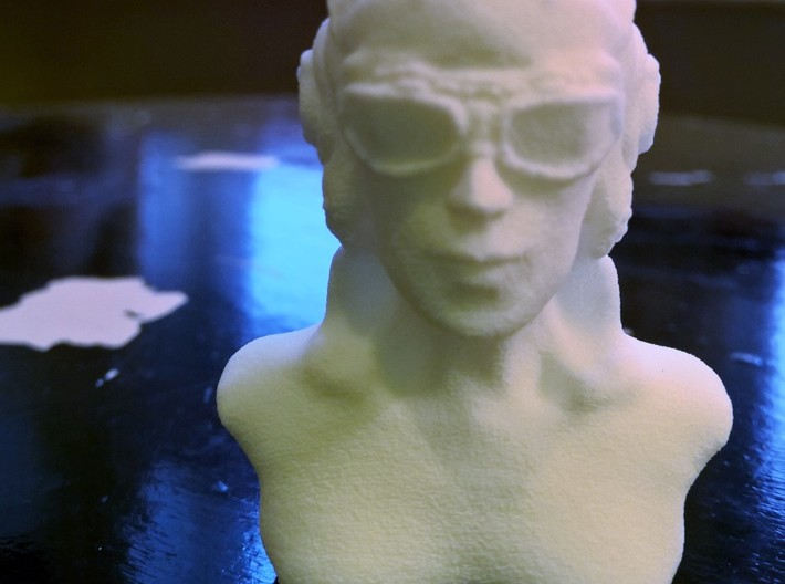 Woman with Flight Goggle 3d printed