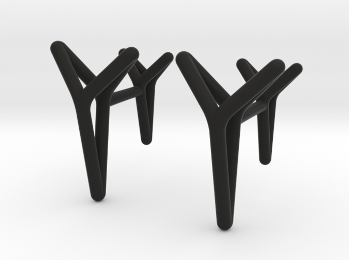 YOUNIVERSAL ONE Cufflinks. Pure Elegance for Him 3d printed