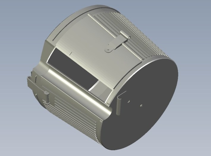 1/15 scale WWII Wehrmacht MG-42 drum magazine x 10 3d printed