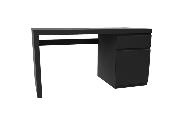 Miniature Malm Desk - IKEA 3d printed Miniature Malm Desk - IKEA