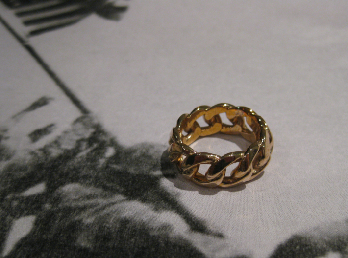 Chained Ring of Honor 3d printed - Chained Ring of Honor in Polished Bronze -