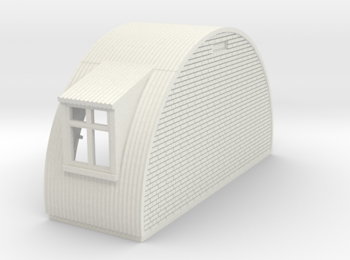 N-87-complete-nissen-hut-end-brick-2-wind-16-36-1a 3d printed