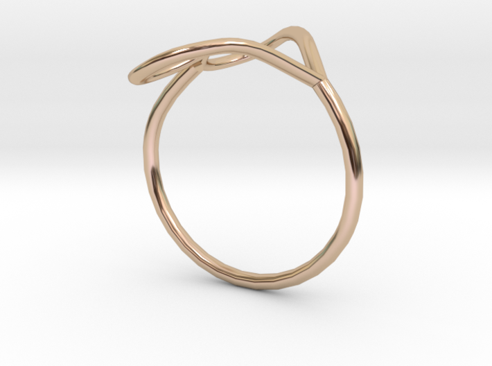 Infinity Heart Ring  3d printed