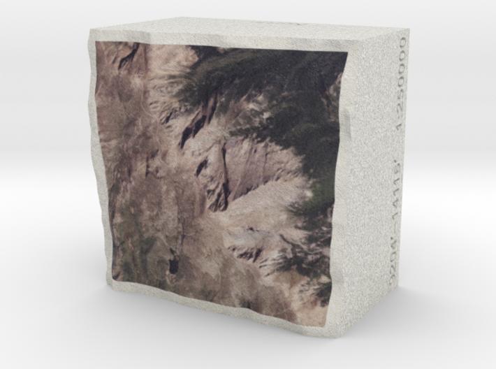 Pikes Peak, Colorado, USA, 1:250000 Explorer 3d printed