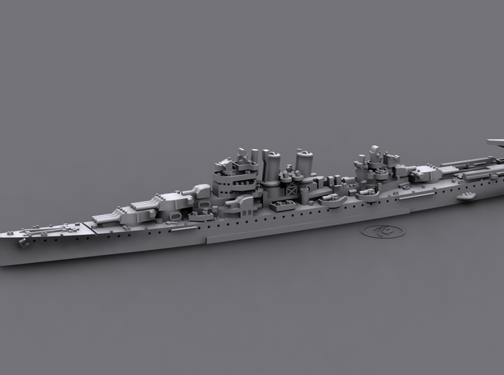 USN CA45 Wichita [1942] 3d printed Computer software render