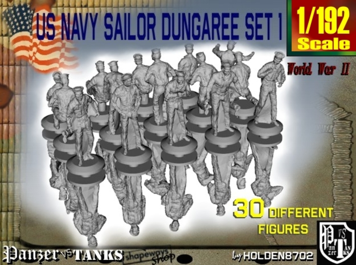 1-192 US Navy Dungaree Set 1 3d printed