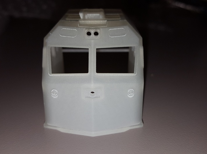 HO F69PH-AC Cab for Kato F40PH 3d printed Front view of cab in FUD
