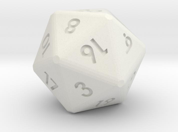20-sided die (d20) 3d printed