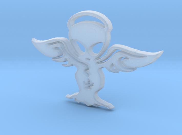 Alien angel Pendant 3d printed