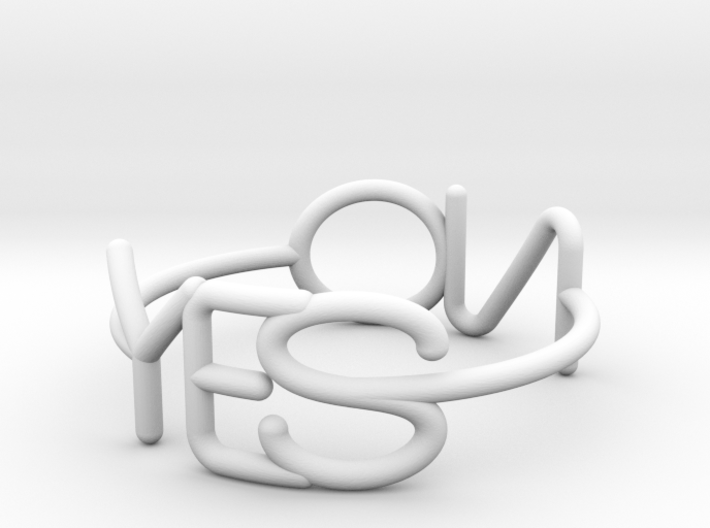YesNo Ring US7 3d printed