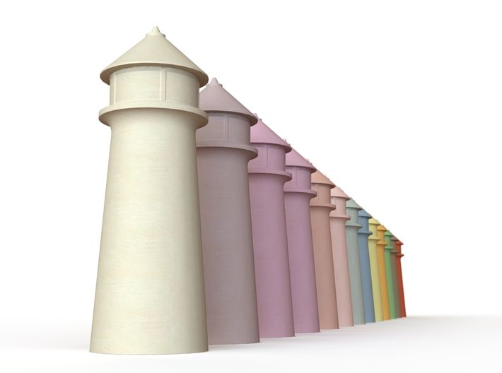 Lighthouse Pastel Brown 3d printed