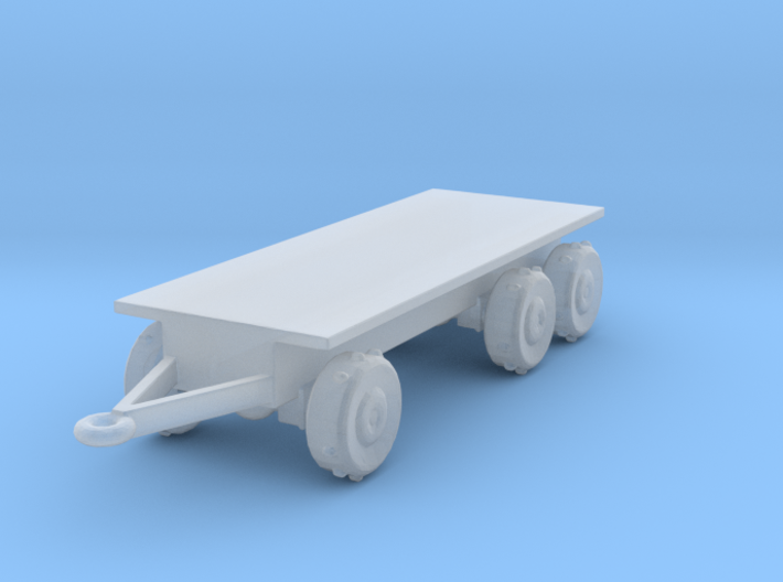 1/144 Scale HEMMT M-1076 Flat Bed Trailer 3d printed