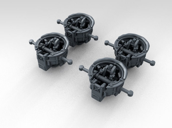 1/500 RN WW2 HACS MKIV Open (4) 3d printed 3d Render showing product detail