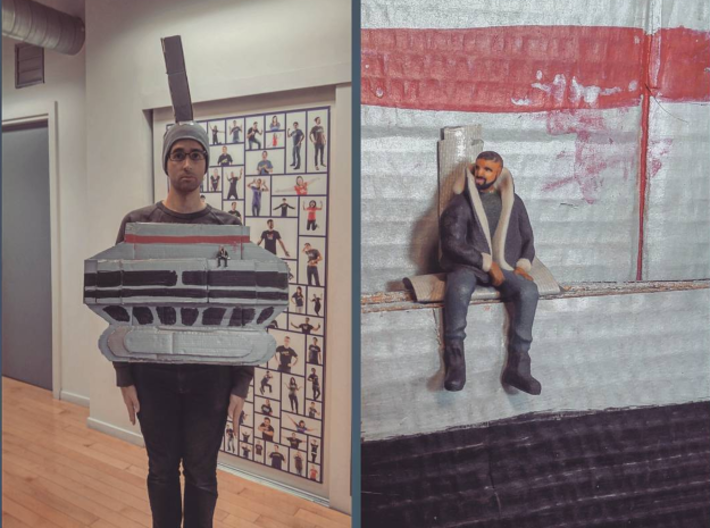 Drake | Tiny Views 3d printed Halloween #views