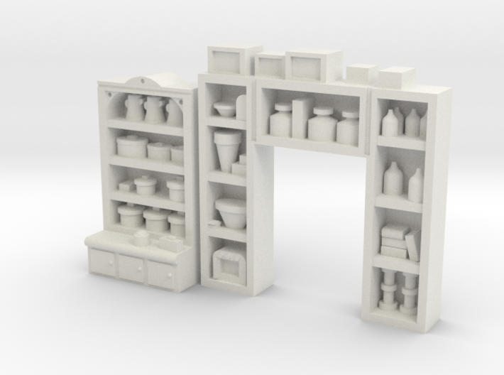 Interior Shelving Pack #4 HO Detailed 3d printed