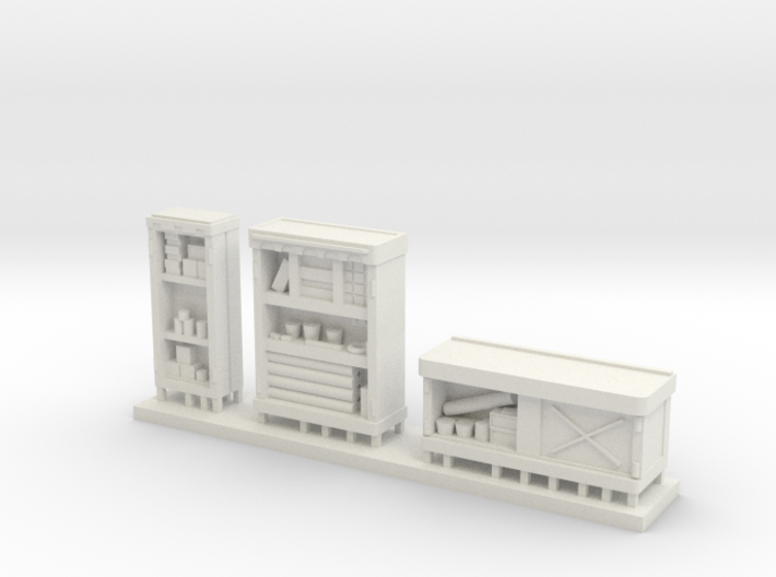 HO Cabinets, Interior Detailing, 3 pack Loaded 3d printed