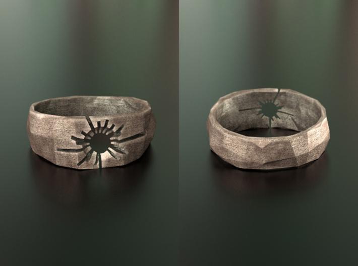 Neotokyo ring: size 10 (US) U (US) 3d printed