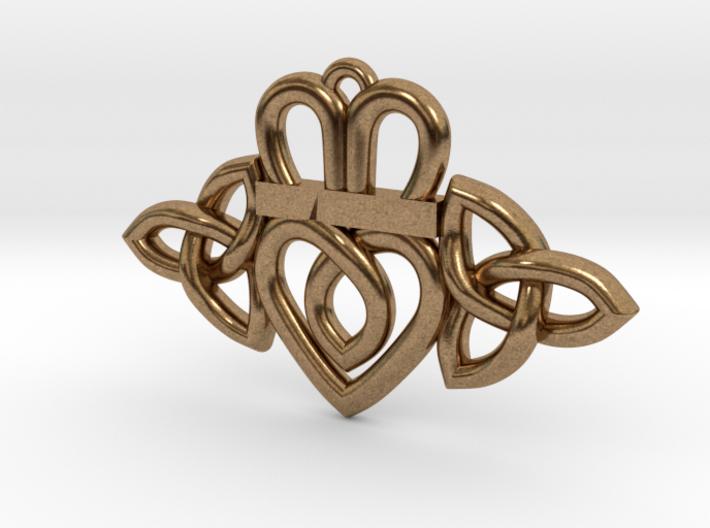 Claddagh Triquetra Pendant 3d printed