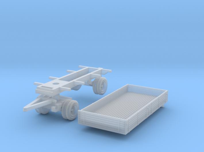 Pritschenanhänger (TT 1:120) 3d printed