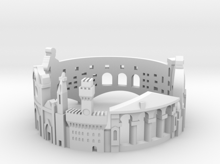 Ring Florence US8 3d printed