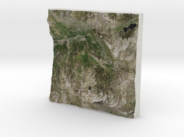 Alta Ski Area, Utah, USA, 1:25000 3d printed