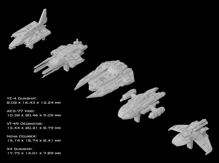 (Armada) Galaxies Gunships 3d printed