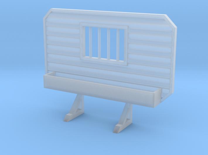 1/87 HO headache rack window with tray 3d printed