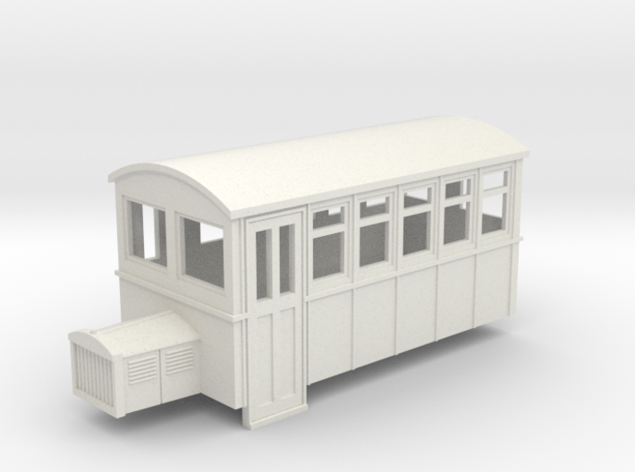 009 4 wheeled railbus version 1 3d printed