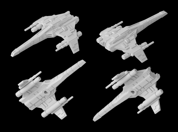 E-Wing (two laser cannons variant) 1/270 3d printed