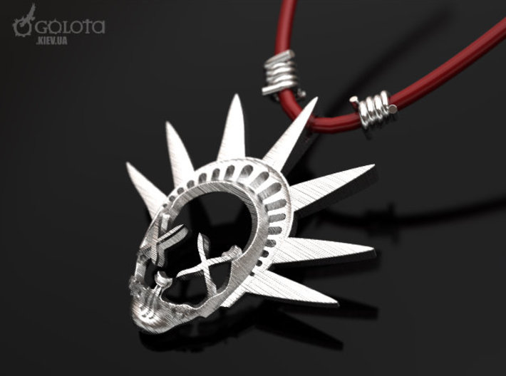 The Purge-3  pendant  necklace 3d printed