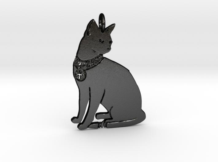 Lucky Cat Pendant 3d printed