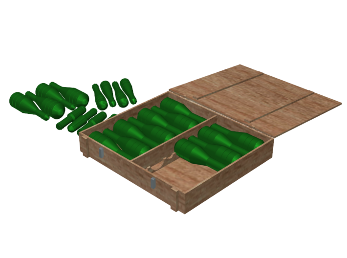 Panzergranate (Grenades) and Box Set, 1/6 3d printed Rendering for Demonstration