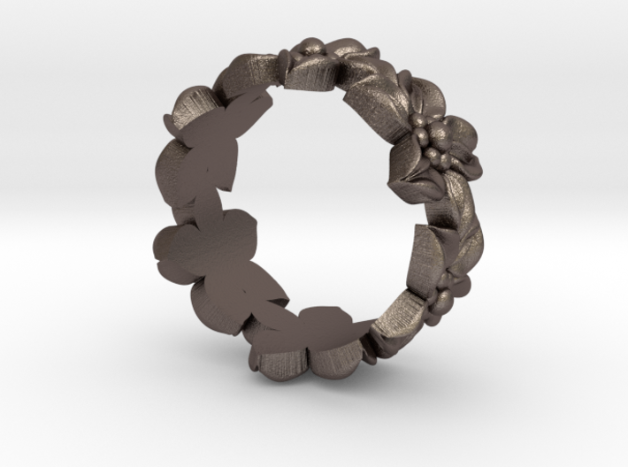 Flower ring size 8.5 3d printed