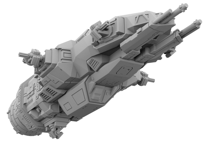 1:500 Rocinante - The Expanse [+ Guns] 3d printed