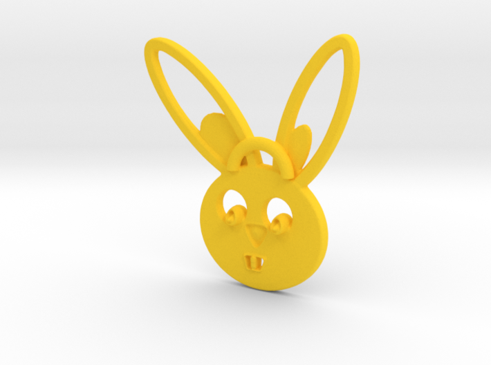 Rabbit pendant 3d printed