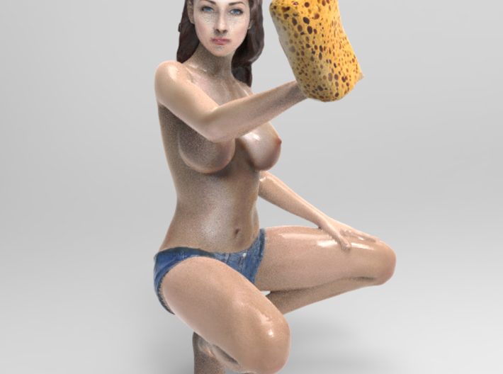 Carwash babe 2,59inch/66 mm 3d printed