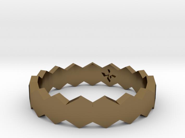 Hex Ringsaround Hexagon Geometric Ring Sizes 6-10 3d printed