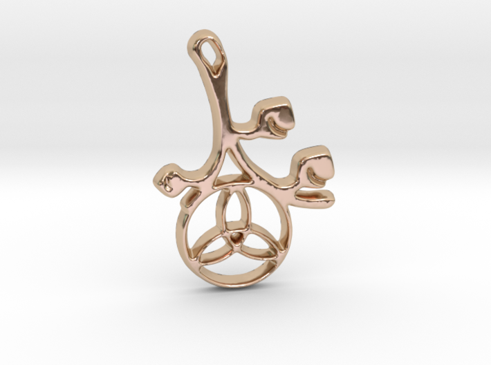 Earthly Spring Triquetra by ~M. 3d printed