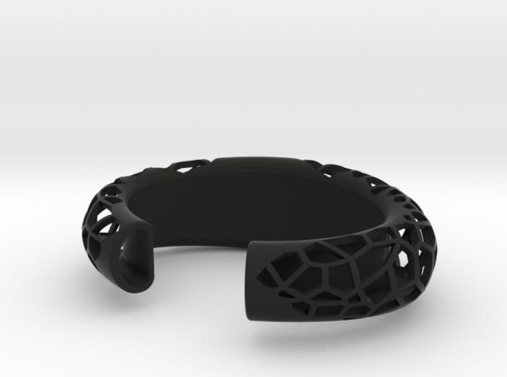 Polygon Cuff, geometric cuff bracelet 3d printed