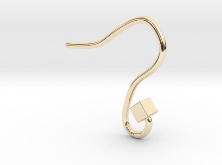 Earring hook square 3d printed