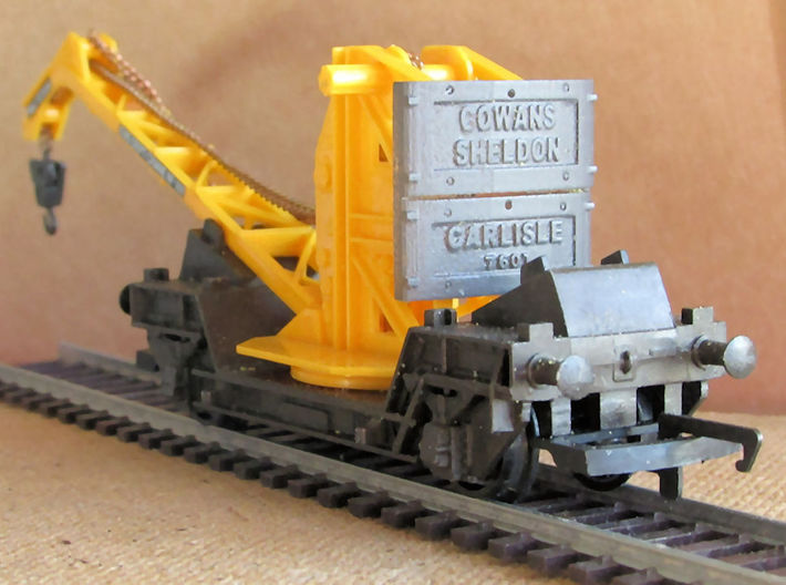 Cowans Balance Weight 3d printed This shows the FUD version painted with grey primer. Note crane not included.