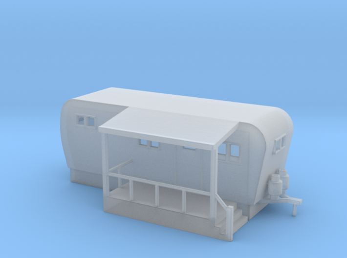Trailer Mobile Home 20ft - N 160:1 Scale 3d printed
