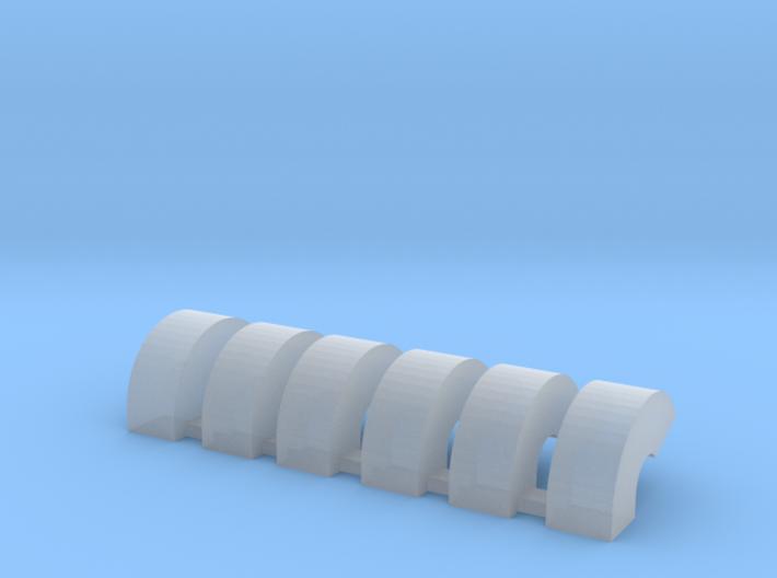 'N Scale' - Six Bin Vents 3d printed