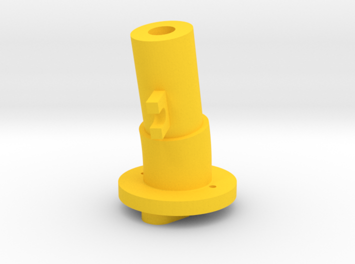 Thrustmaster tailpiece, 13° ang. 15°off. 3d printed